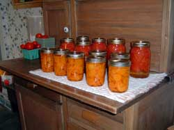 canned carrots and tomatoes