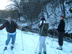 skiing to Trout Brook