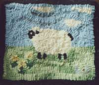 My second rug, sheep